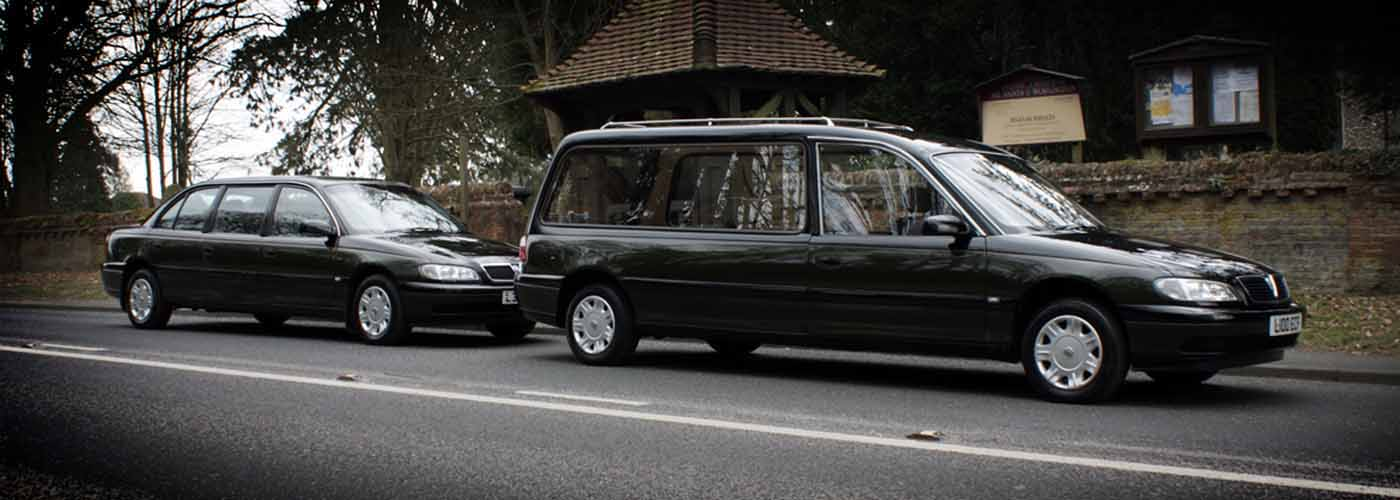 image of funeral cars